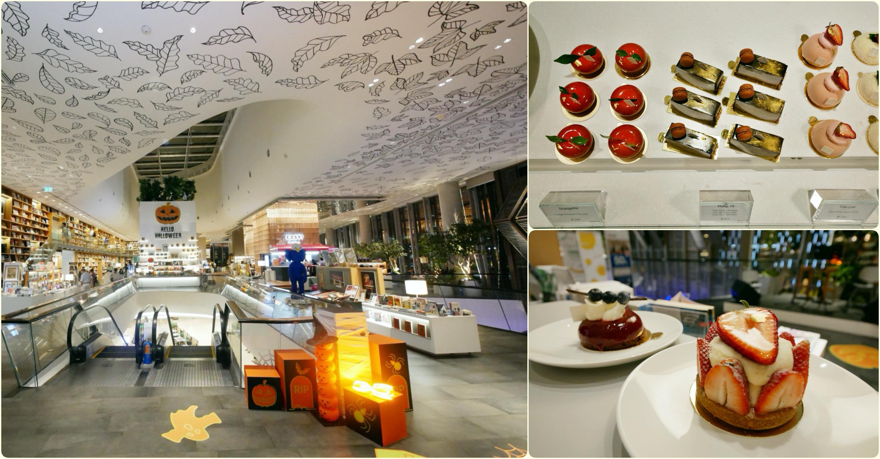 [曼谷美食]Paris Mikki~Open House at Central Embassy|文青書店超美空間.坐在書店裡吃法式甜點 @VIVIYU小世界