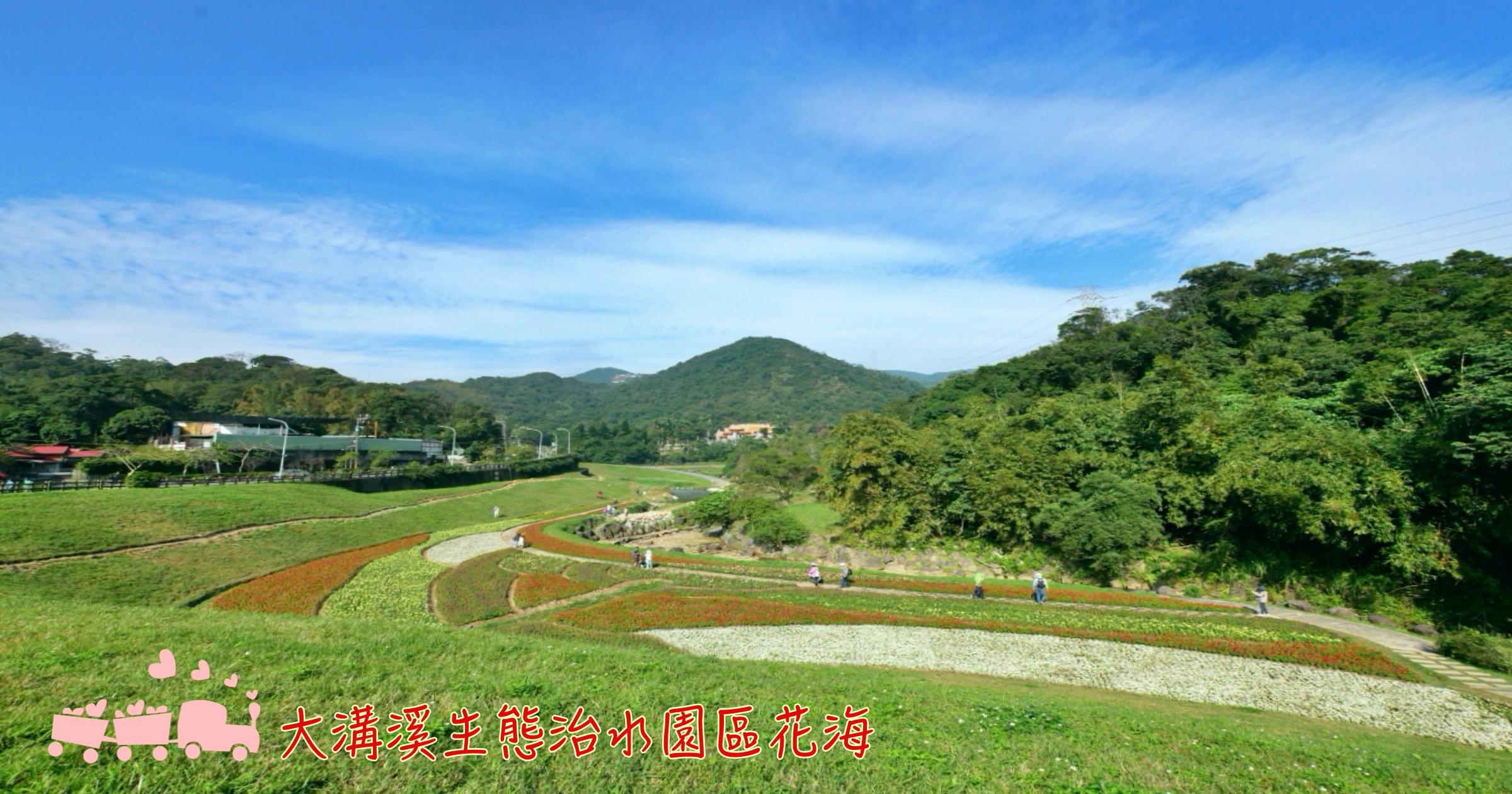 最新推播訊息:[台北旅遊]大溝溪生態治水園區|農曆年前的萬株花海~彩色花毯與鯉魚山形成如畫般美景