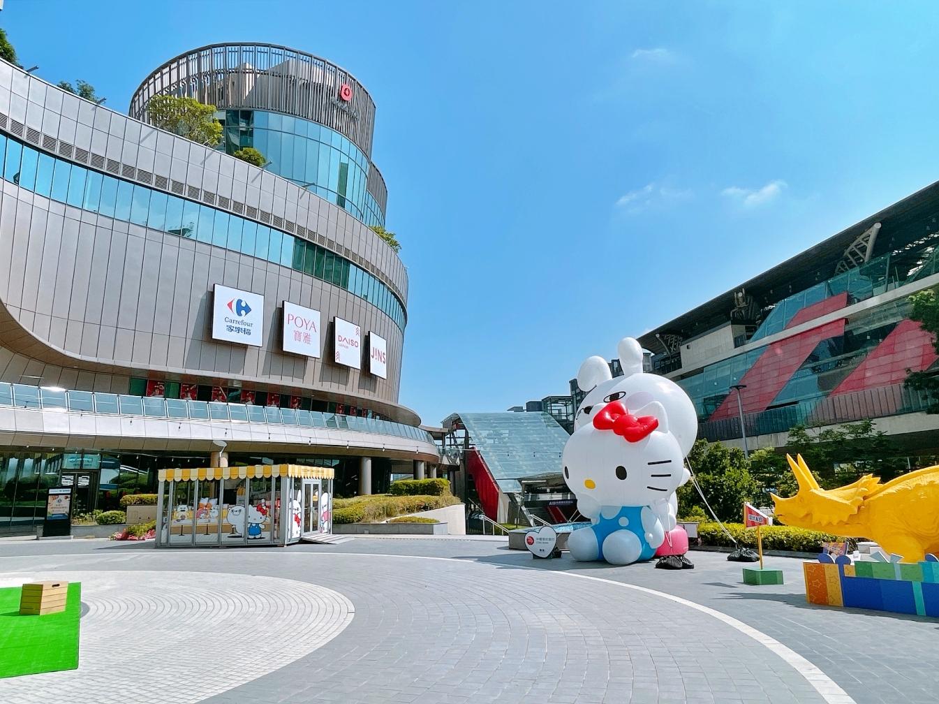 [青埔購物]Global Mall 環球桃園 A19|鄰近桃園棒球場~最新亮點三麗鷗玻璃屋、百貨最大攀岩館(實拍搶先看) @VIVIYU小世界