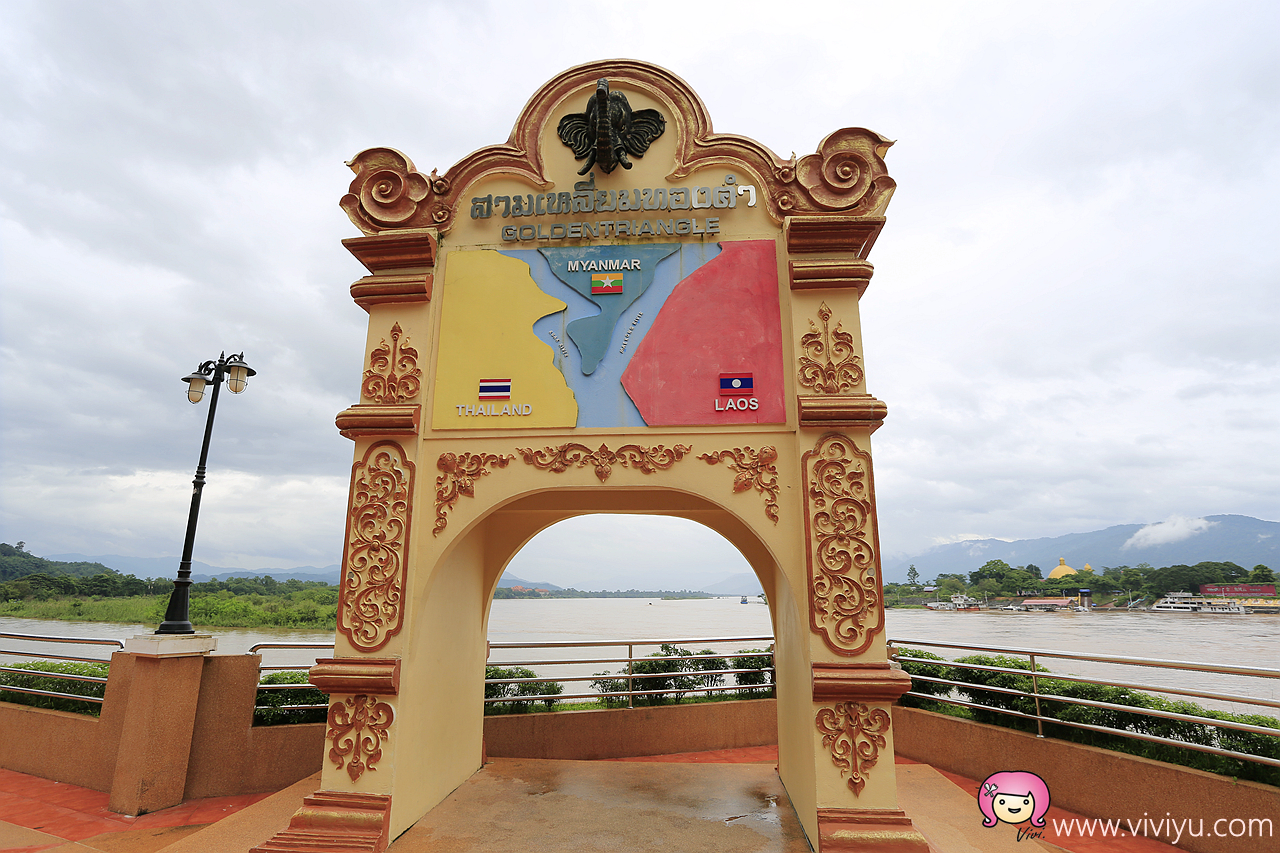 [清萊景點]傳說中的『金三角Golden Triangle』~鄰近寮國、緬甸.搭船遊河 @VIVIYU小世界